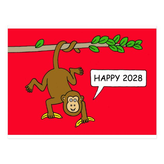 2028 Chinese New Year of the Monkey Postcard