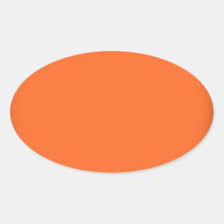 202__neon-orange-brad PINK CIRCLE POLKADOT TEMPLAT Oval Sticker
