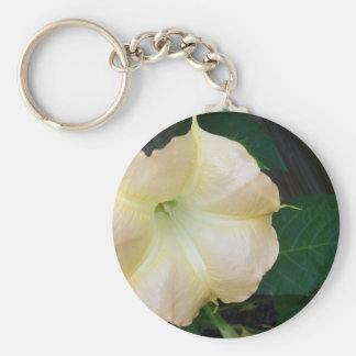 202a Angels trumpet  golden close up Keychain