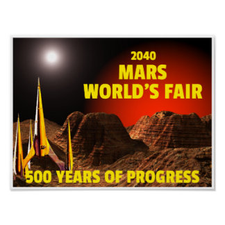 2040 Mar's World's Fair Poster