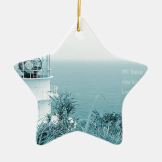 """2050 latest modern art world top artist photo "" ceramic star ornament"