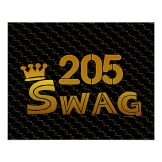 205 Area Code Swag Posters