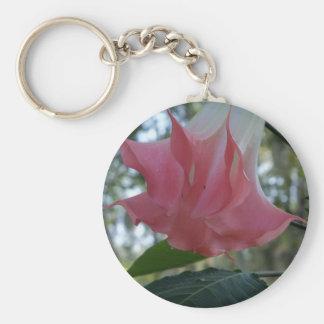 205a Angels trumpet pink close Keychain