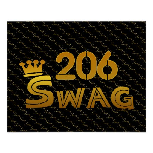 206 Area Code Swag Posters