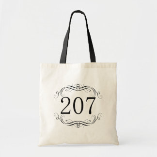 207 Area Code Tote Bag