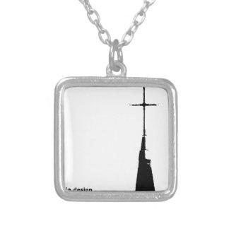 2099 modern art photographer cloa art silver plated necklace