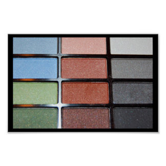 209 COLORFUL EYE SHADOW MAKEUP FASHION BEAUTY SPA POSTER