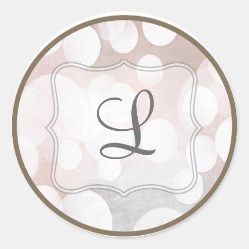 20 - 1.5 Envelope Seal Glitz Pink Sparkles Round Stickers