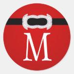 20 - 1.5  Envelope Seal Monogram Christmas XMAS Round Stickers