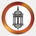 "20 - 1.5"" Envelope Seal Moroccan Lantern Round Sticker"