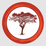 "20 - 1.5"" Envelope Seal Red Sunset in Africa Round Stickers"