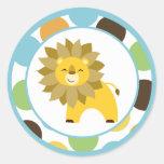 "20 - 1.5""  Envelope Seals Jungle King Lion Safari"