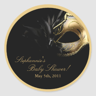 """20 - 1.5""""  Favor Stickers Masquerade Mask Sweet 16"""
