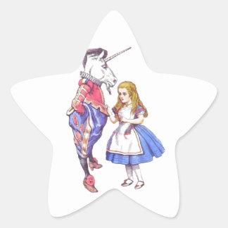 20 alice in wonderland star stickers