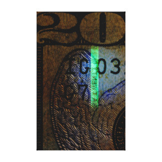 $20 Bill Art Canvas Print
