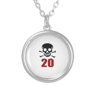 20 Birthday Designs Silver Plated Necklace