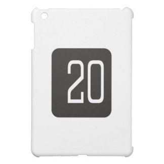 #20 Black Square iPad Mini Covers