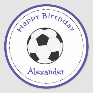 20 Customizable Cupcake Toppers Soccer Ball Sports Round Sticker