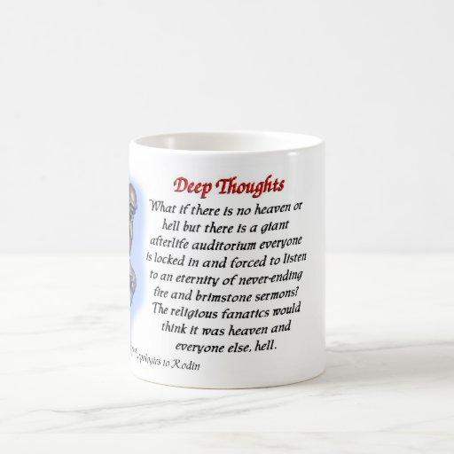 20 Deep thoughts - heaven and hell mug