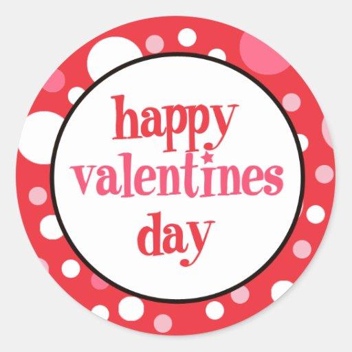 20 Happy Valentines Day Cupcake Toppers Round Sticker | Zazzle