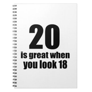 20 Is Great When You Look Birthday Notebook