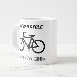 """20 oz Jumbo Mug Bowl, """"Life is a Cycle"""""""