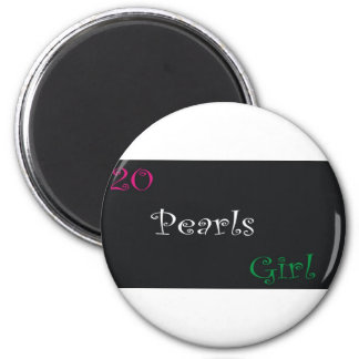 20 perles magnet rond 8 cm