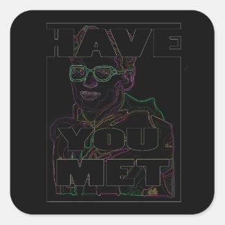 20 Rave black Travis stickers