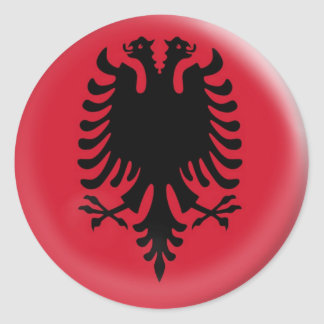 20 small stickers Albania flag