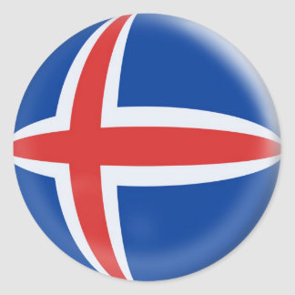 20 small stickers Iceland Icelandic flag