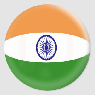 20 small stickers India flag