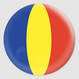 20 small stickers Romania Romanian flag