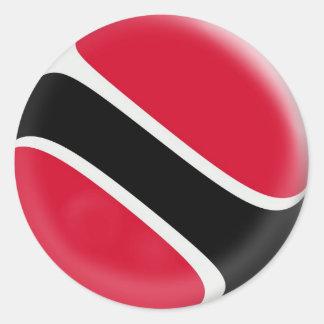 20 small stickers Trinidad & Tobago flag