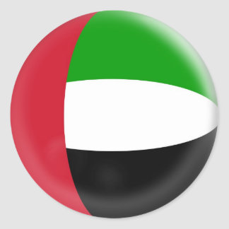 20 small stickers United Arab Emirates flag