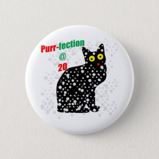 20 Snow Cat Purr-fection 2 Inch Round Button