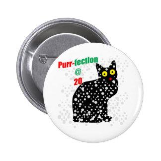 20 Snow Cat Purr-fection 2 Inch Round Button