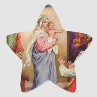 20 Star Stickers Mary and Jesus