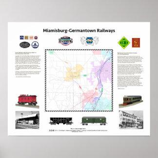 "20""x16"", Ohio Railways: Miamisburg/Germantown v1d1 Poster"