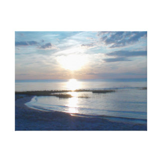 "20"" x 16""  Wrapped Canvas Cape Cod Beach"
