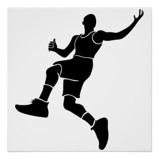 """20"""" x 20"""", Poster Paper, Basketball player Perfect Poster"""