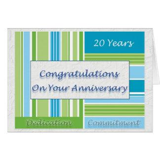 20ème anniversaire des employés carte de vœux