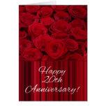 20èmes roses heureux d'anniversaire carte de vœux