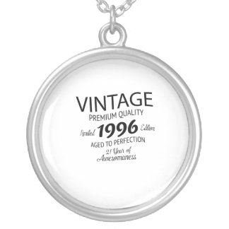 20st Birthday Gift -1997 Birthday Vintage Silver Plated Necklace