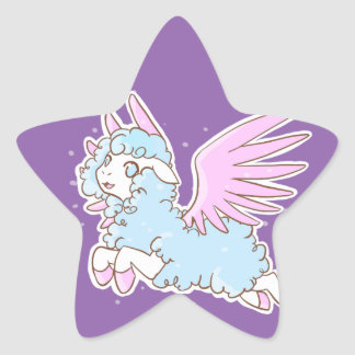 20Stickers Self-adhesive kawaii Sheep off the Star Sticker