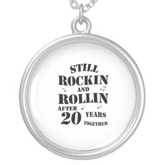 20th Anniversary - 20 Years Couples Gift Silver Plated Necklace