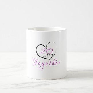 20th Anniversary 20 Years Together Heart Mug
