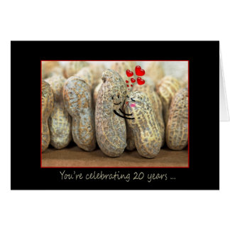 20th Anniversary Nuts Greeting Card