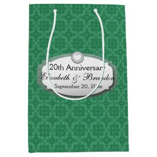 20th Anniversary Wedding Anniversary Diamond Z07 Medium Gift Bag