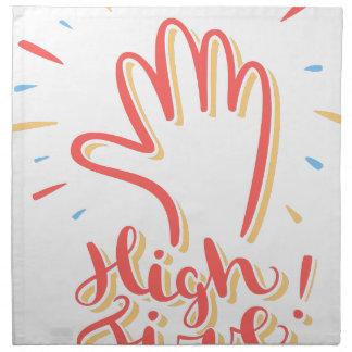 20th April - High Five Day Cloth Napkins