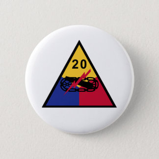20th Armored Division 2 Inch Round Button